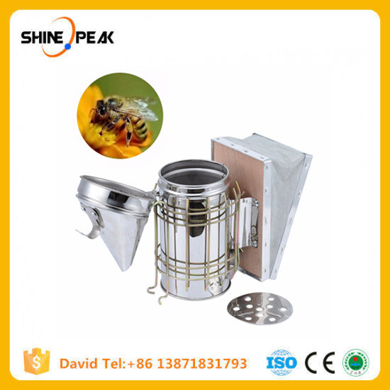 Bee Hive Smoker Stainless Steel w//Heat Shield Beekeeping Equipment tool new