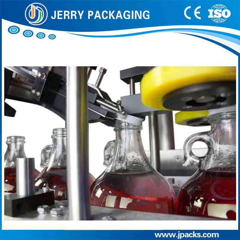 Factory Supply Automatic Inline Twisting Plastic & Aluminum Cap Capping Machine