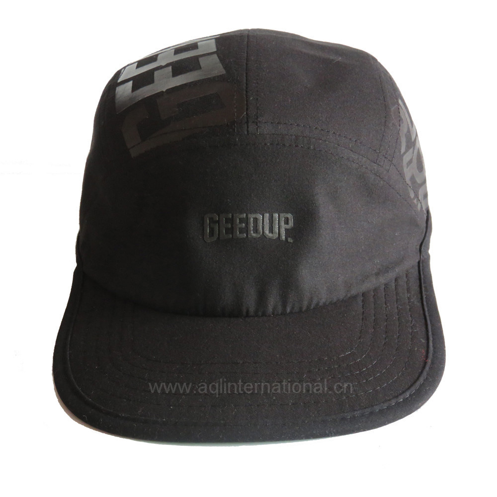 68431d6c8a79c China Custom Ink Printing Flat Brim Cap 5 Panel Camp Hat Photos ...