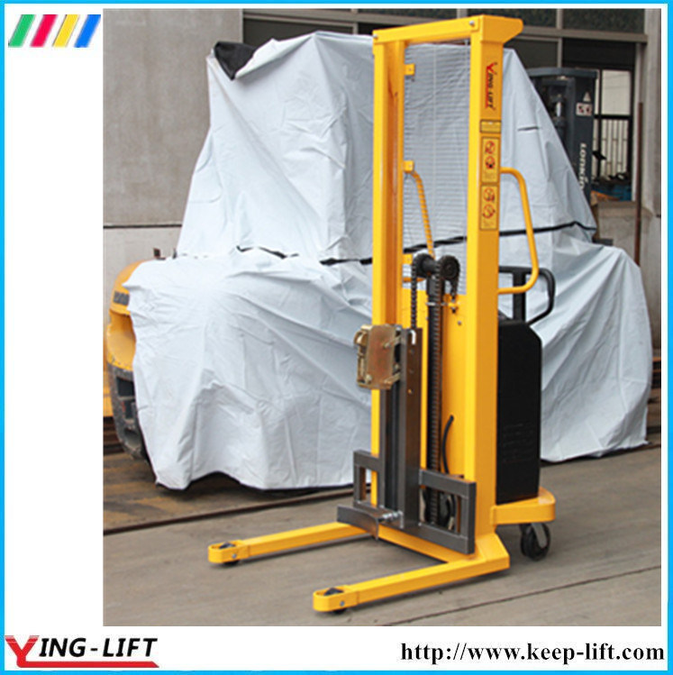 500kg Capacity Electric Powered Drum Lifting Stacker Dt500 pictures & photos