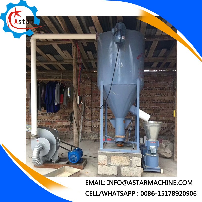 [Hot Item] Small Family Use Cattle Feed Production Line Vertical Feed Mixer  for Sale