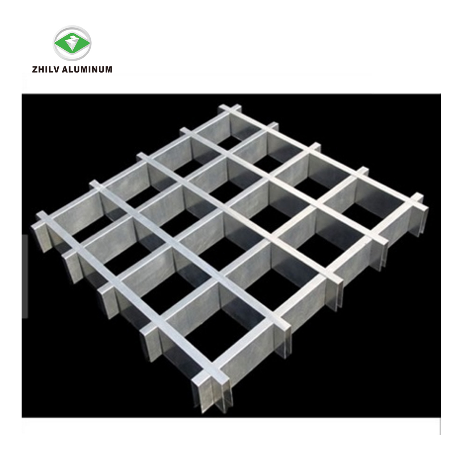 China Aluminum Open Cell Grid Ceiling Tiles For Supermarket Photos