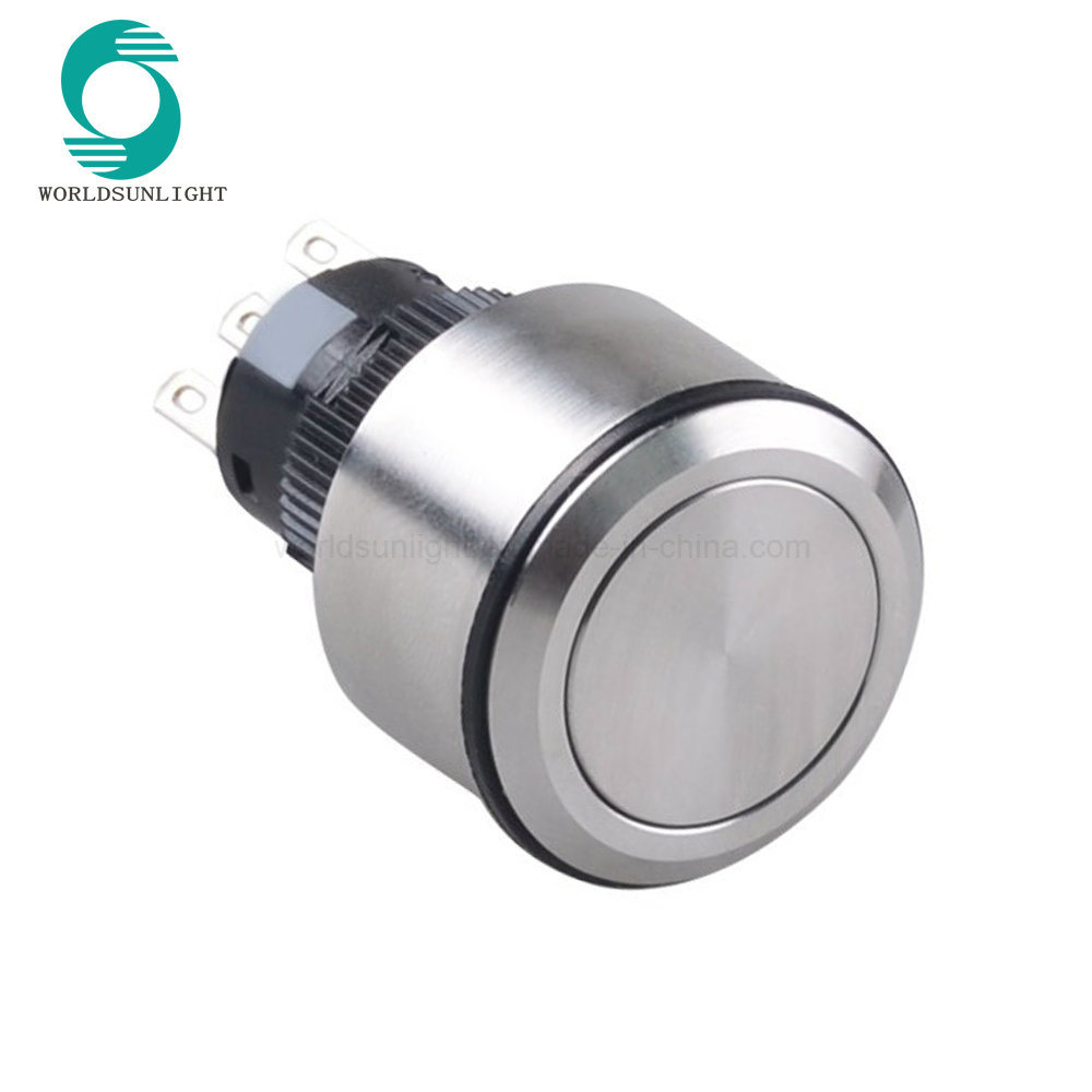 China 22mm 5 Pins Non-Illuminated Stainless Steel Round Pushbutton ...