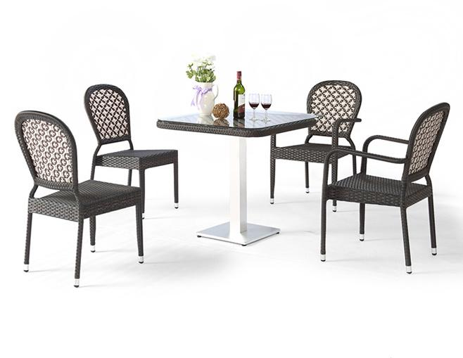 Table And Chair Armrest Black