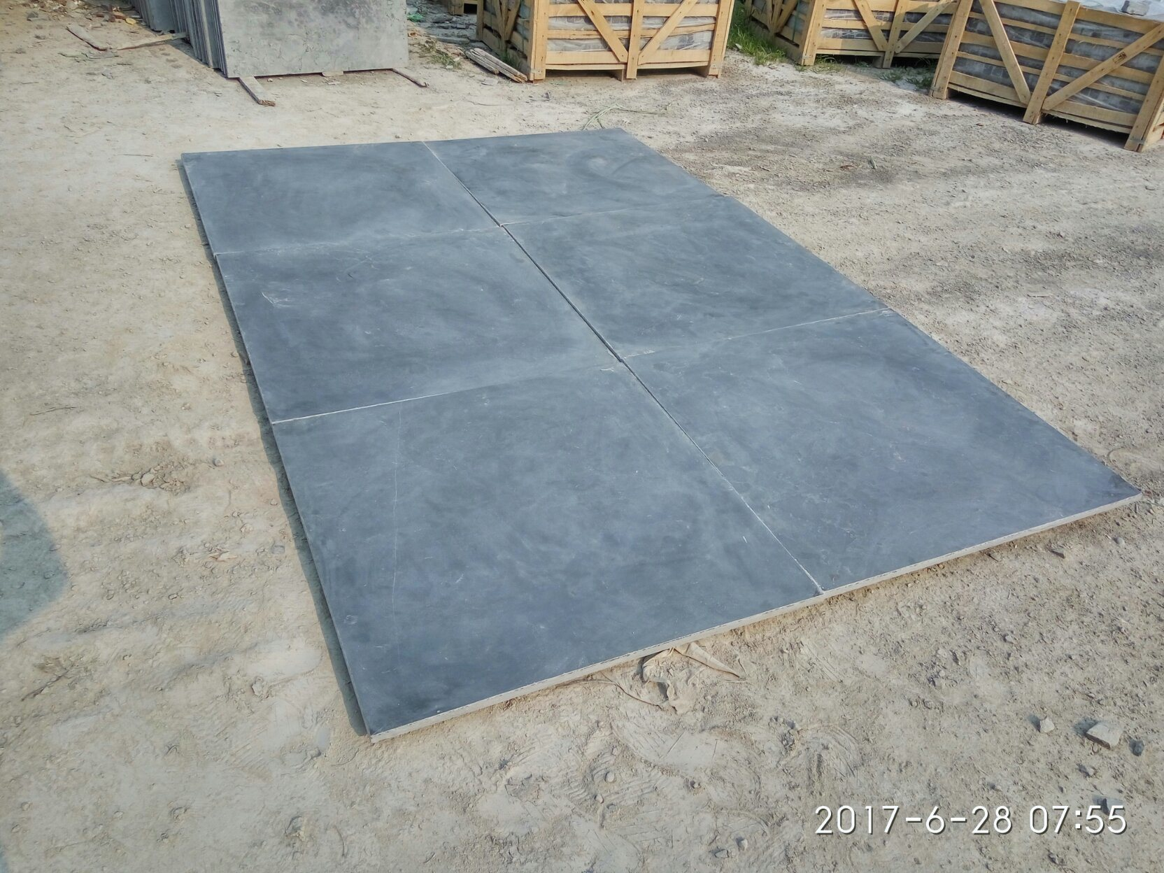 Honed/Tumbled/Flamed/Sandblasted/Acid Washed Blue Limestone for Tiles/Slabs/Swimming Pool/Kerbstone/Flooring/Paving/Wall//Steps/Stairs pictures & photos