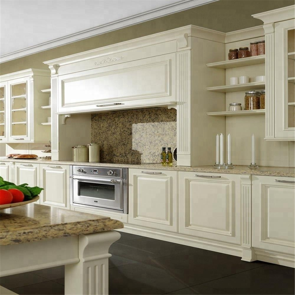 China Kitchen Cabinets Solid Birch Wood Maple Linen Square White