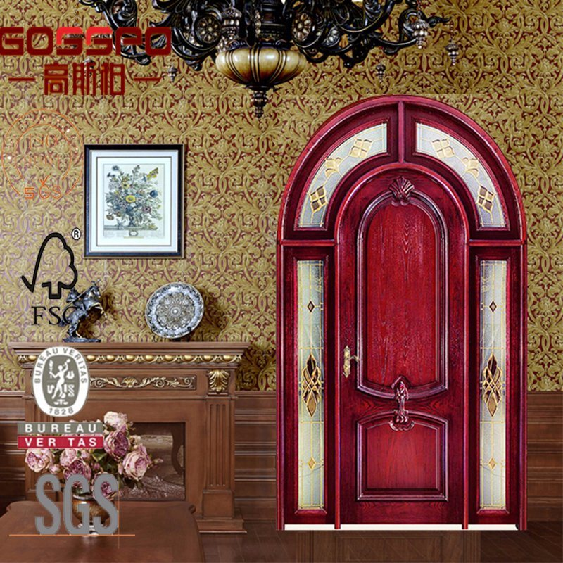 sale retailer dfc55 aade3 [Hot Item] American 60 Inch Arched Entry Wooden Door with Sidelights  (GSP2-036)