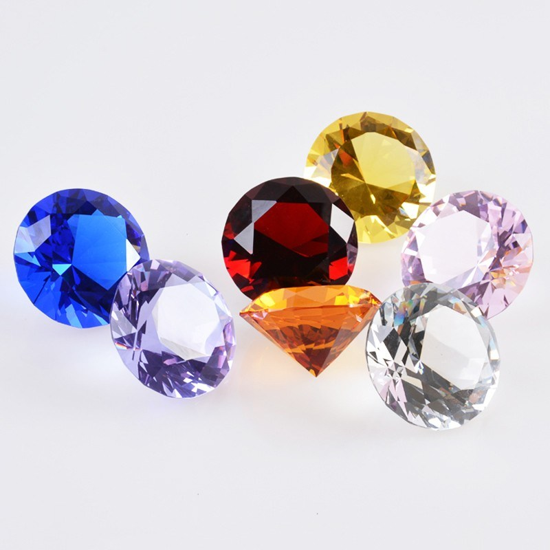 3cm Wedding Home Office Decoration Souvenir Gift Crystal Glass Diamond Fengshui Paperweight Crafts (#2411)