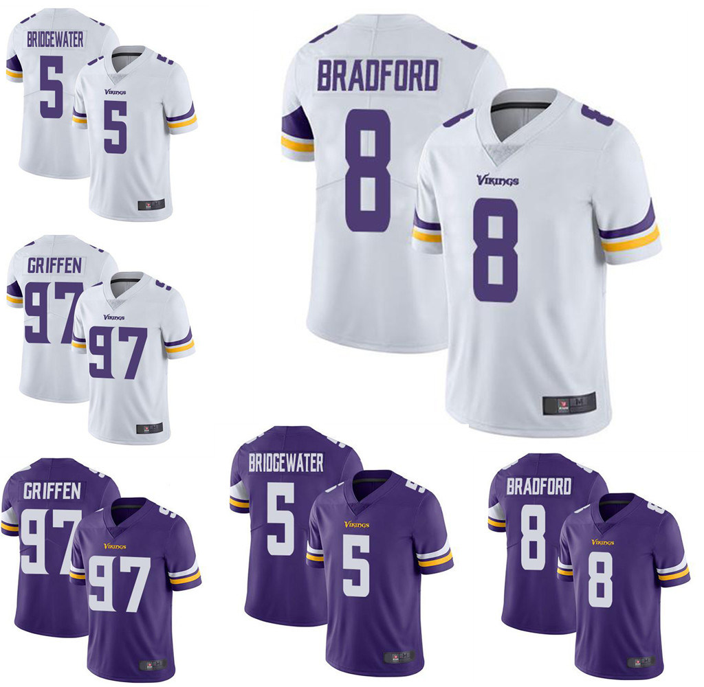 pretty nice 5a422 ef22b [Hot Item] Wholesale Custom Sports Wear Kirk Cousins Everson Griffen  Football Jersey