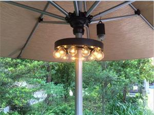 China 10 Inch Battery Operated G40 Led Umbrella Light Remote Controlled String Lights