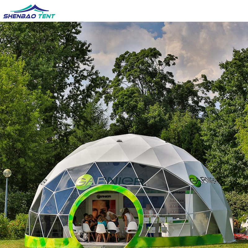 China 30m Diameter Large Geodesic Dome Party Wedding Tent