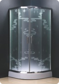 Incroyable Fashion Shower Enclosure With Cloud Acid Etched Glass Patterns