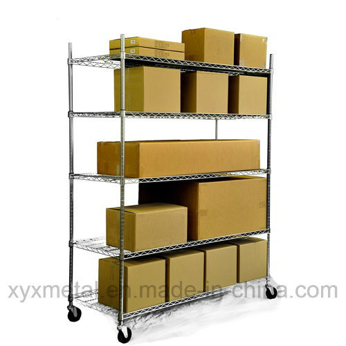 China Chrome Metal Heavy Duty Wire Shelving Cart - China Wire ...