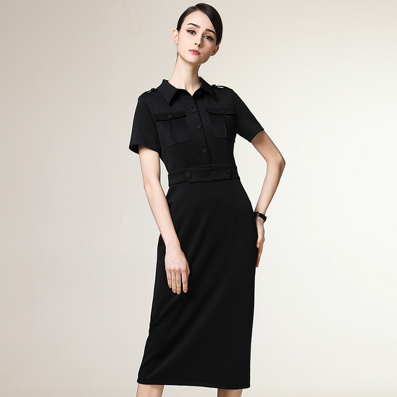 China Lady High End Knee Length Office Formal Dress Plus Size
