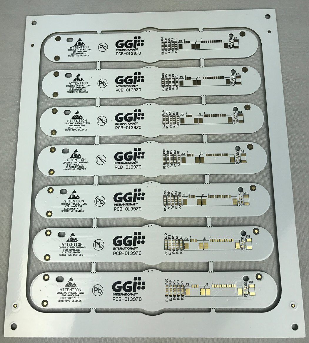 China Double Side Board LED Lamp PCB with White Solder Mask - China ...