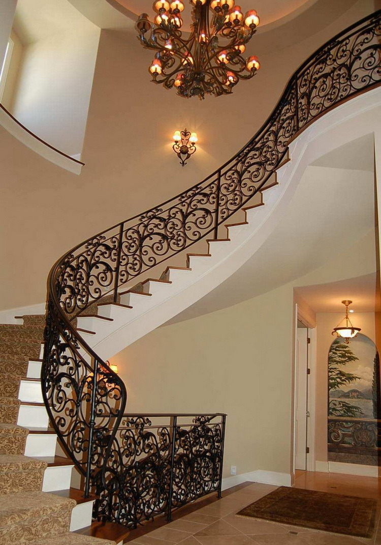 China Residential Interior Steel Stairs Railing Designs