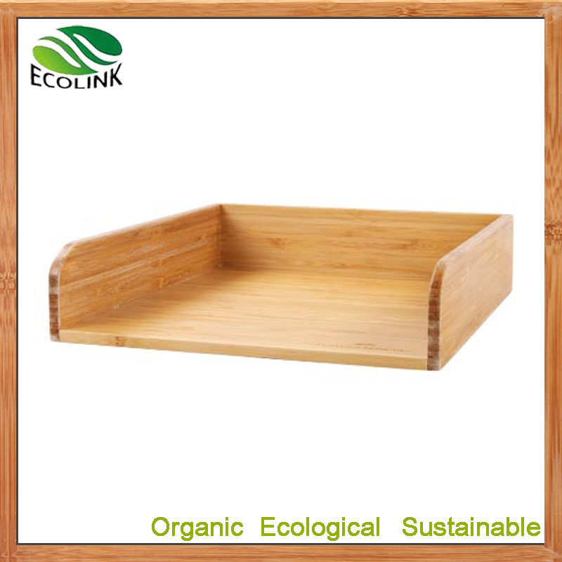 China Bamboo Desk Letter Tray Paper Organizer