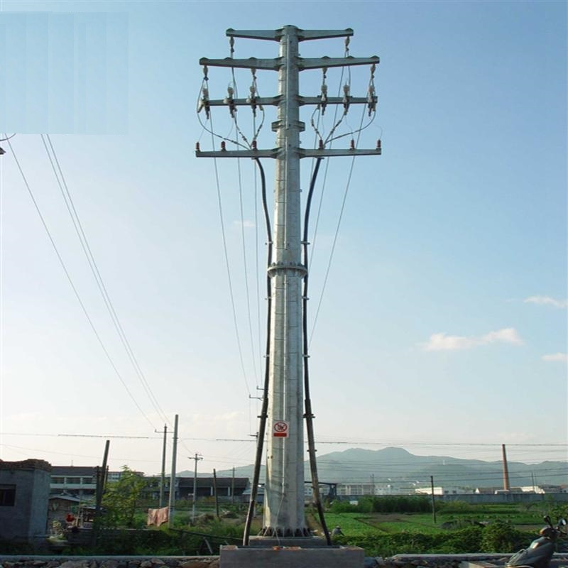 132KV Electric Transmission Tower , Customized Design High