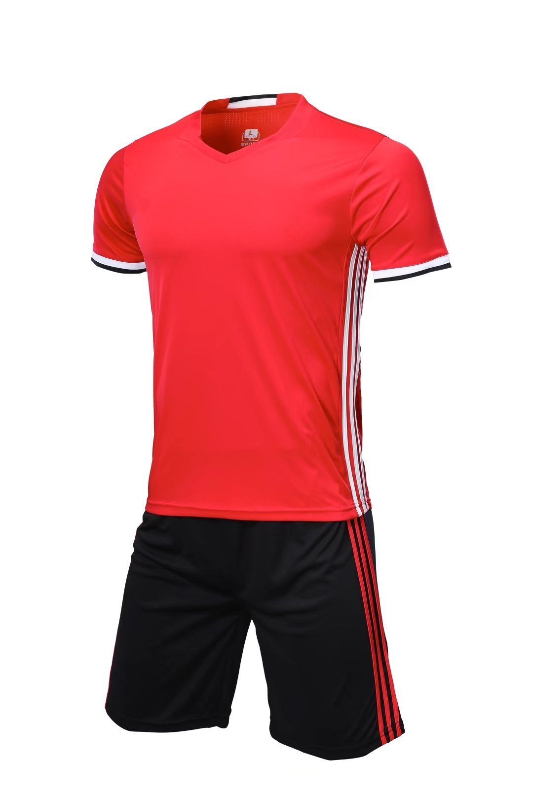 China 2018 Plain Black and Red Football Kits Photos   Pictures ... 03a0b908f373