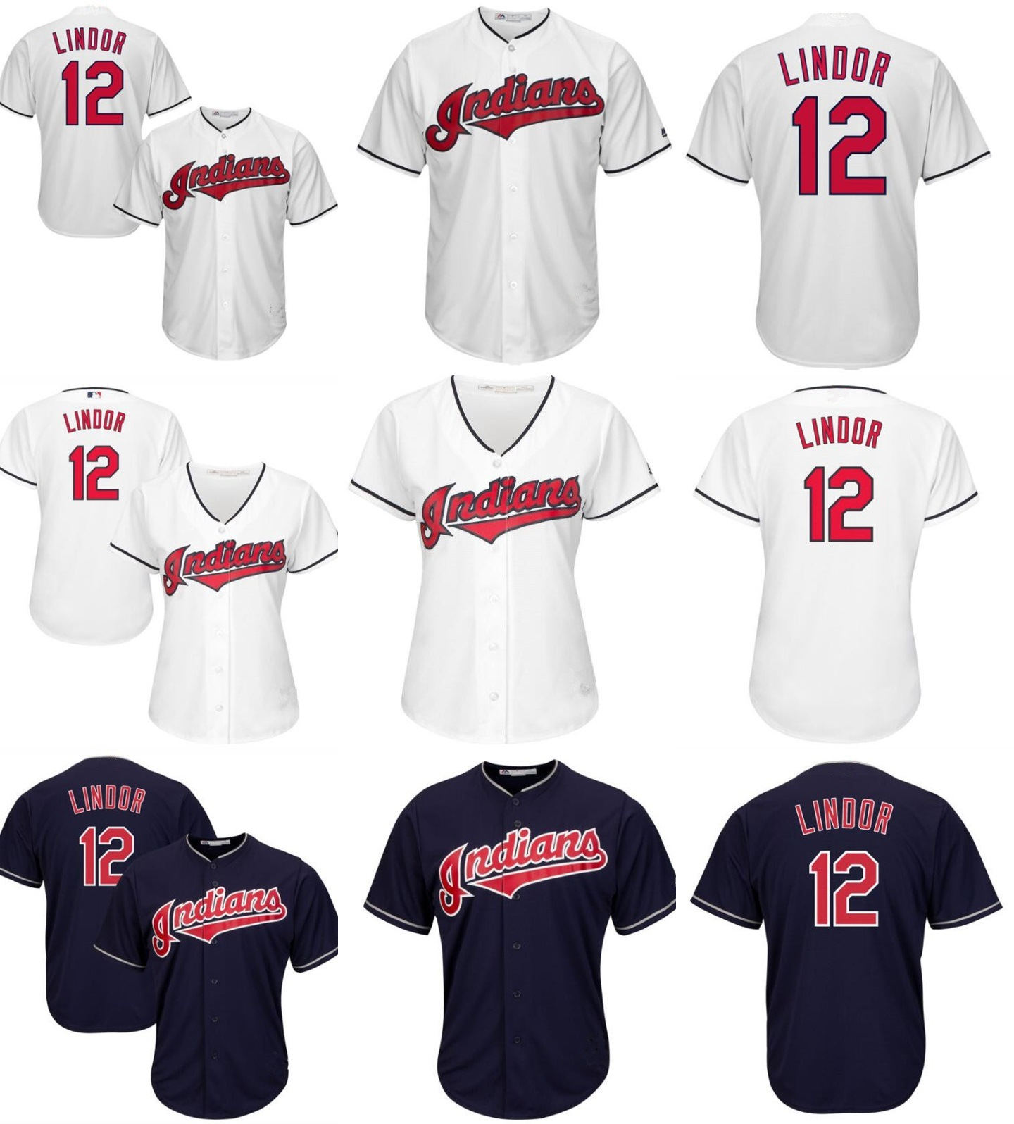 new products 7ff14 956cd [Hot Item] Customized Cleveland Indians Francisco Lindor Baseball Jerseys