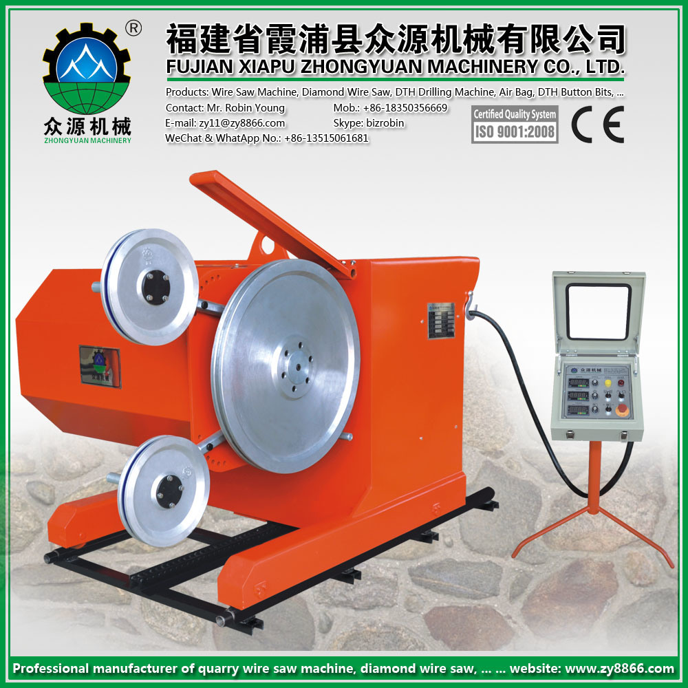 China 45kw (60HP) Wire Saw Machine for Granite Marble Stone Cutting ...