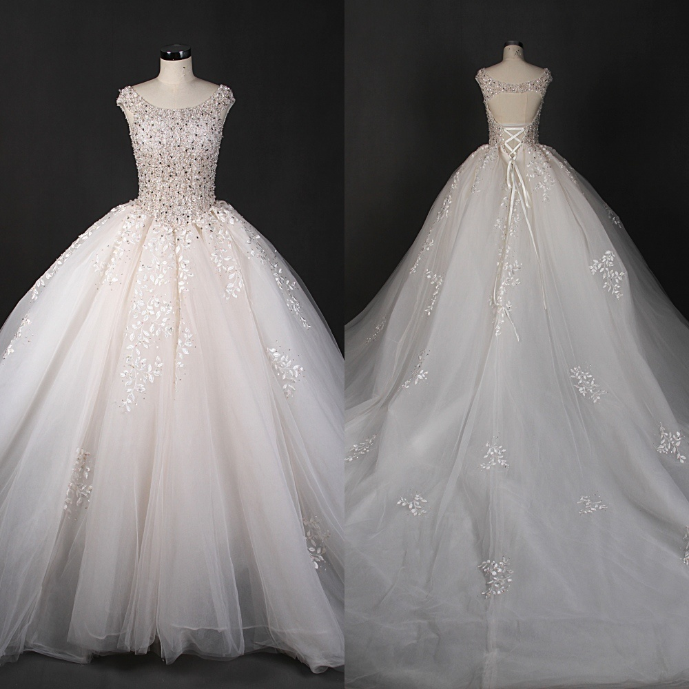 China Luxurious Customz Made Bridal Gown Wedding Dresses Qh66002 ...