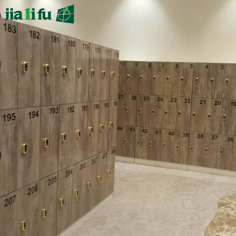China Jialifu Compact Laminate Dressing Room Locker With Bench Hpl Salon Lockers Cabinets