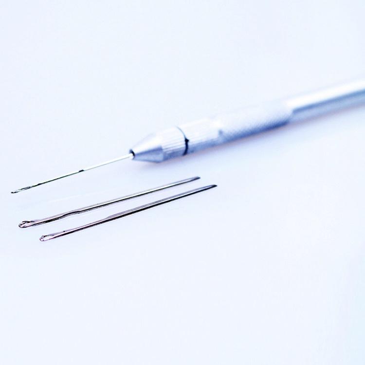 China Hair Extension Ventilating Needle Metal Hook Needles Weaving