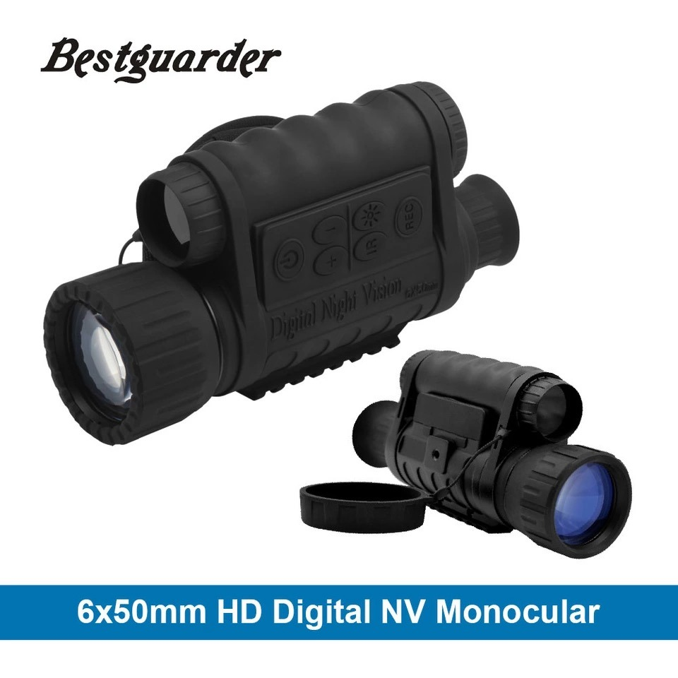 6X50 Monocular Digital Night Vision with 350m Range 5m CMOS with 1.5′′ TFT LCD