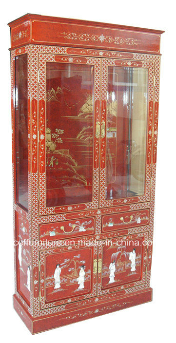 China Art Mother Of Pearl Red Display Wine Glass Cabinet   China Glass  Cabinet, Display Cabinet