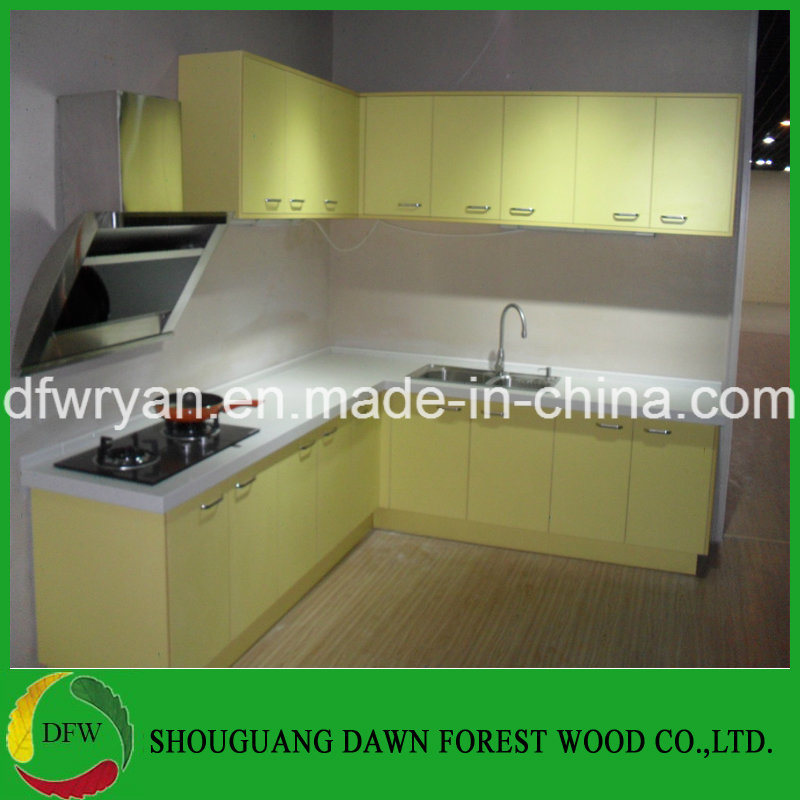 China High Gloss Yellow Kitchen Cabinet Base Wall Cupboards Doors