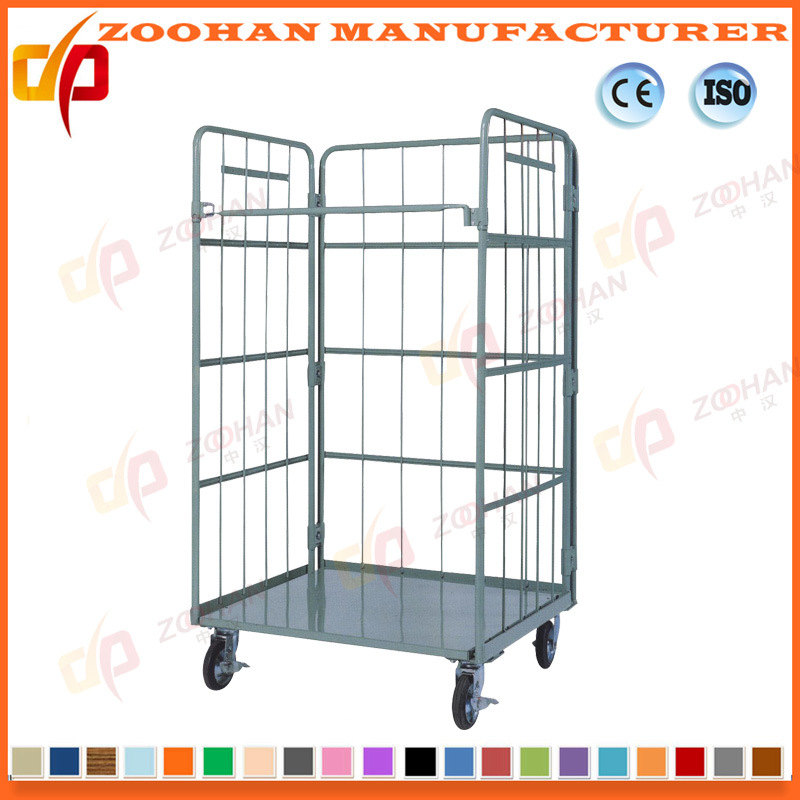 Genial Industrial Steel Wire Mesh Cage Warehouse Storage Container (ZHra66)