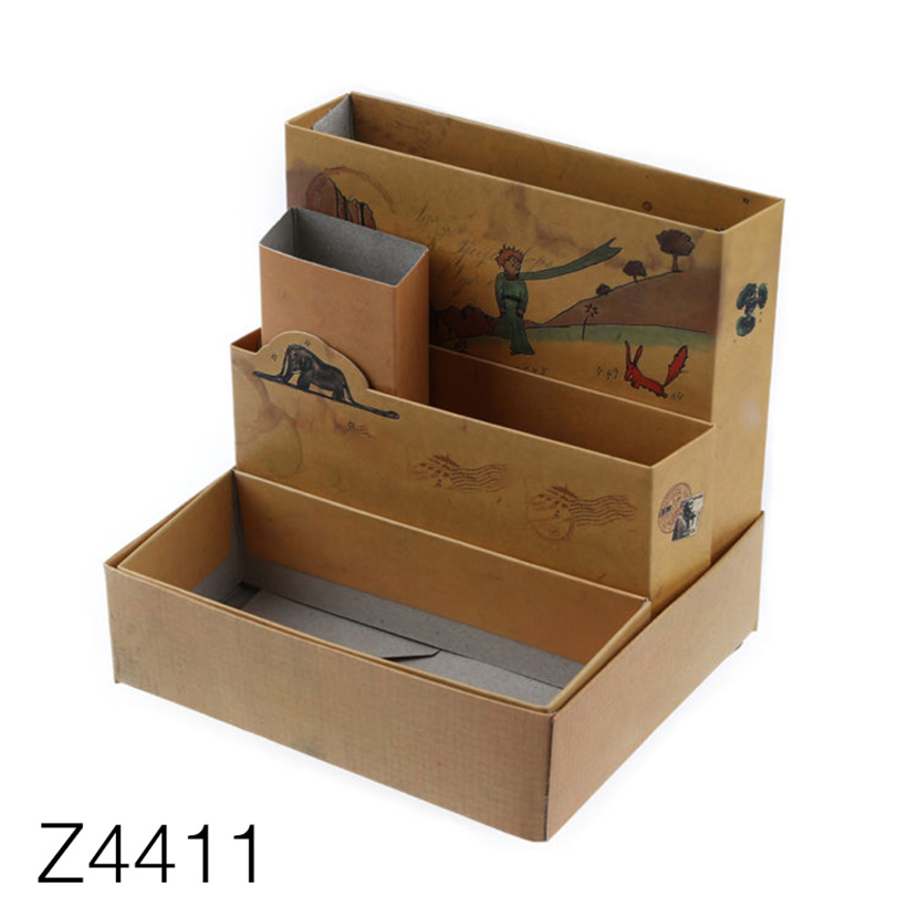 Hot Item Z4411 Cardboard House Shaped Drawer Office Paper Storage Box Cosmetics Makeup Gift Box