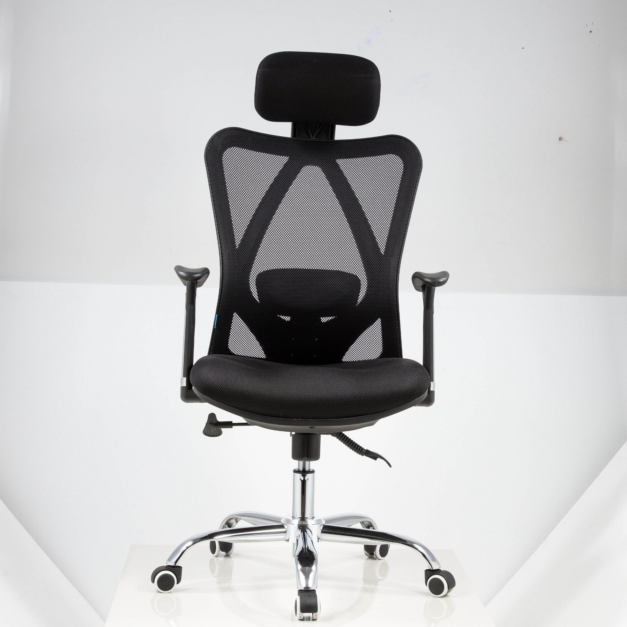 Hot Item Locking Tilt Mechanism Arm Computer Office Chairs Without Wheels