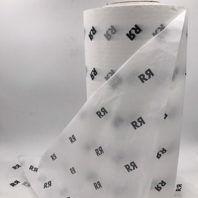 Custom Printed Tissue Wrapping Paper 17 gsm 1 Logo Color Wrapping Paper Packaging