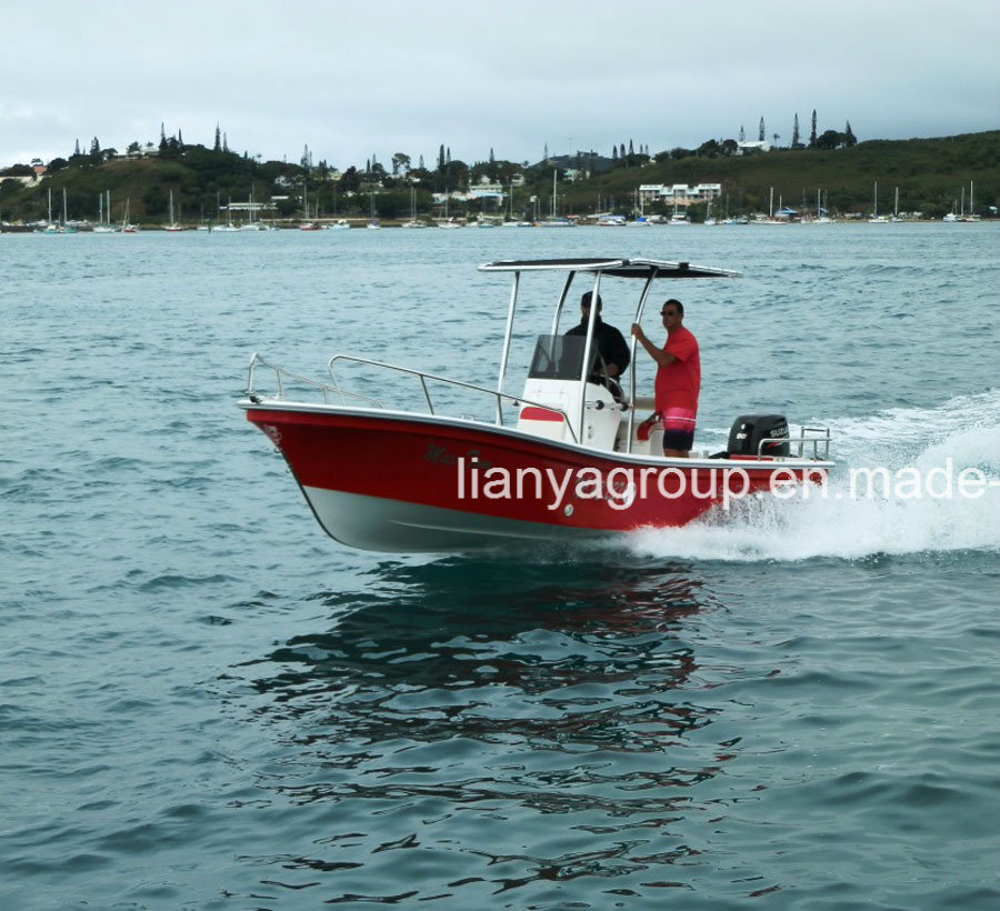 China Liya 5 8m Panga Boat Commercial Fiberglass Boat for