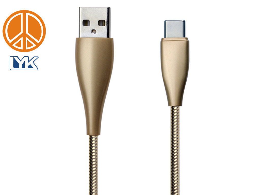 China Type C To Usb20 Metal Integrated Zinc Alloy Stainless Steel Usb 20 Hispeed A Minib 5 Pin Cable Power Data Lead 1m Usb2 Elastic Spring Ring Jacket