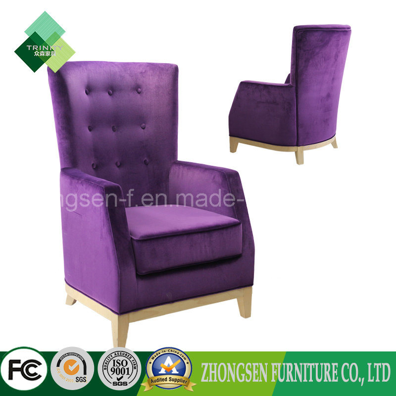 China Modern High Back Chair Purple Chair For Living Room (ZSC 72)   China  Sofa Chair, Fabric Chair