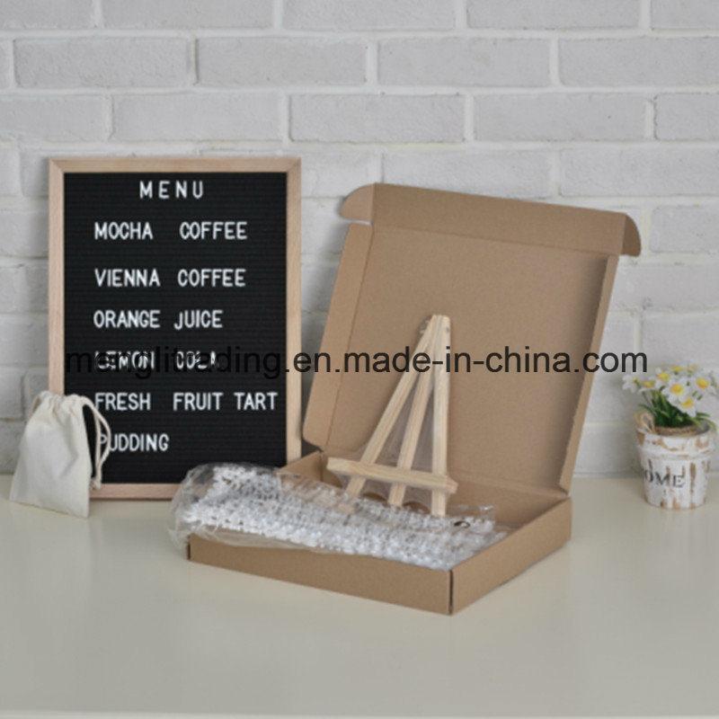 Hot Item Wooden Letter Board Advertising Felt Letter Board 10 X 10 Inch
