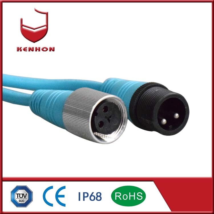 IP68 3 Pin Electrical Cable Wire Connector Waterproof Quick Connect Terminal