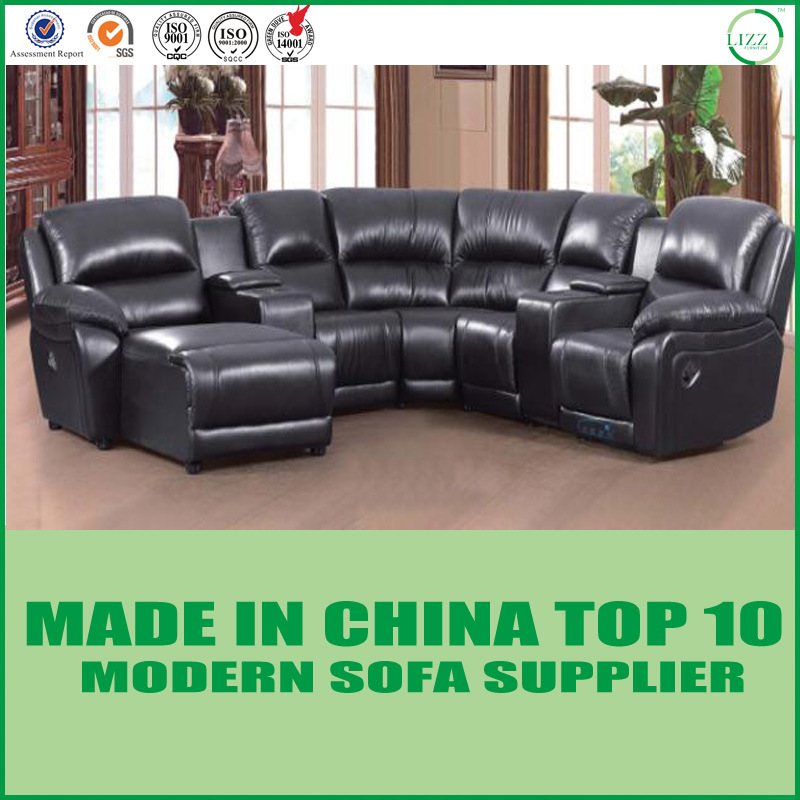[Hot Item] Leisure Italy Leather Recliner Sofa Furniture for Living Room