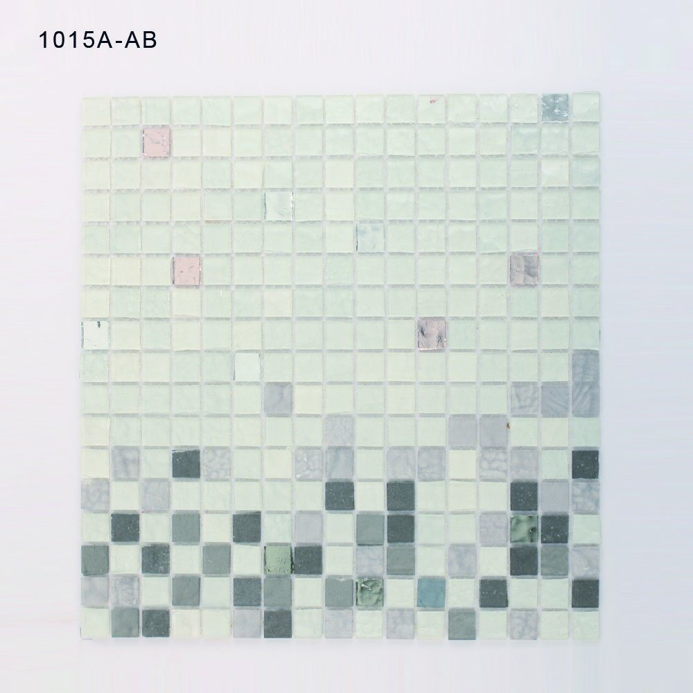 China Bathroom Walls Decoration White Square Stained Glass Mosaic ...