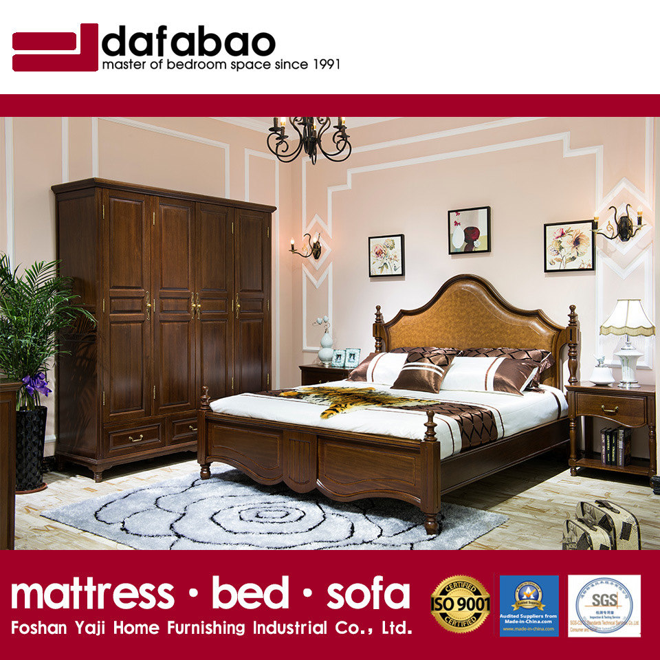 China high quality bedroom furniture solid wood bed as819 china bed furtuniture