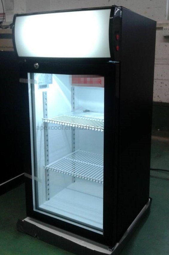 Foshan Manufacturer Bar Single Door Desk Top Mini Glass Beer Cooler Back Chiller