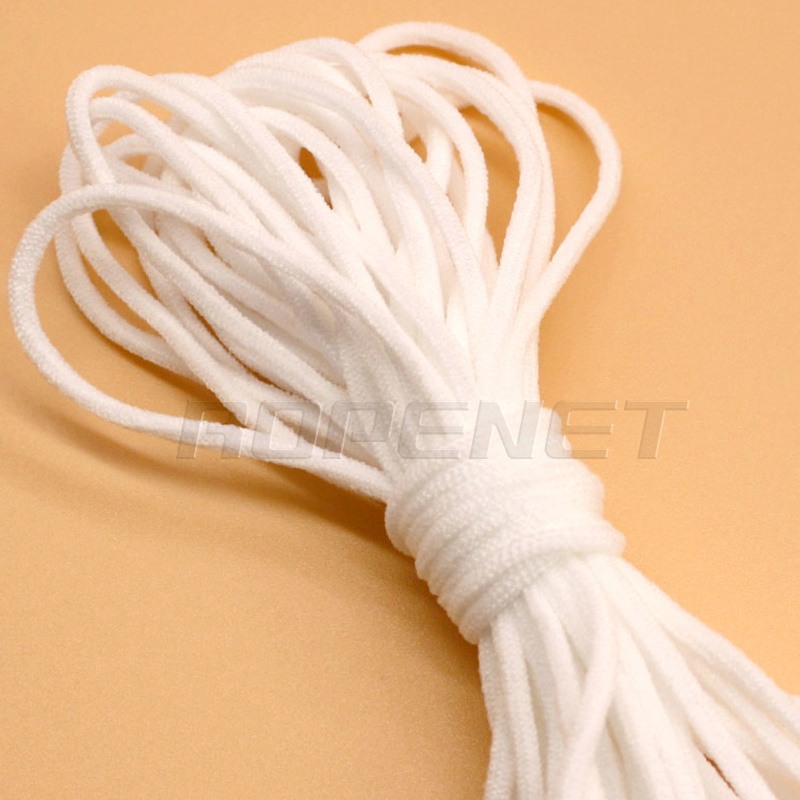 China 3mm Medical White Round Elastic Band For Face Mask Photos
