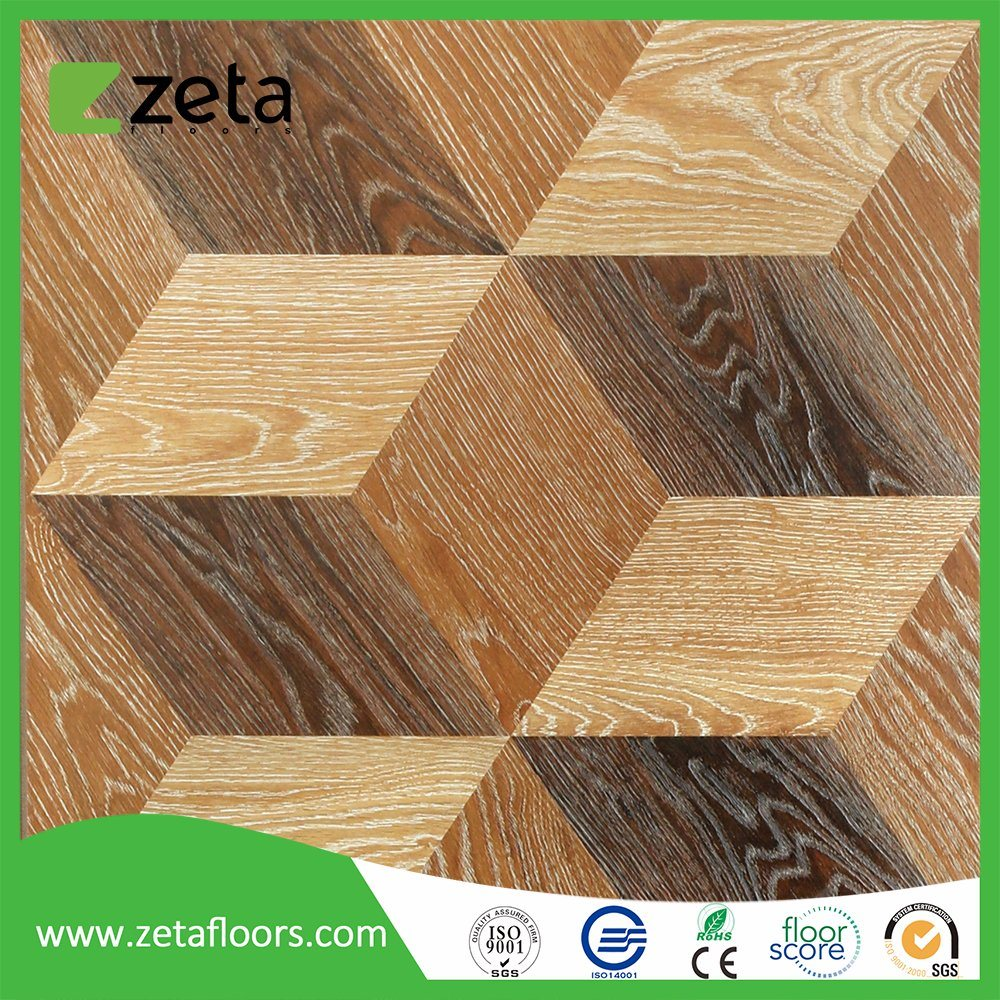 China 3d Floor Durable Wearlayer Laminate Flooring Tile With Top Hdf