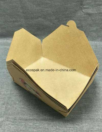China 1480ml Biodegradable Disposable Kraft Paper Bento Box