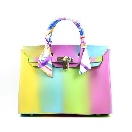 fe610ffeb1 Hot Sell Multicolor Lady Candy Rubber Beachkin Jelly Handbag (XP1474-E4)