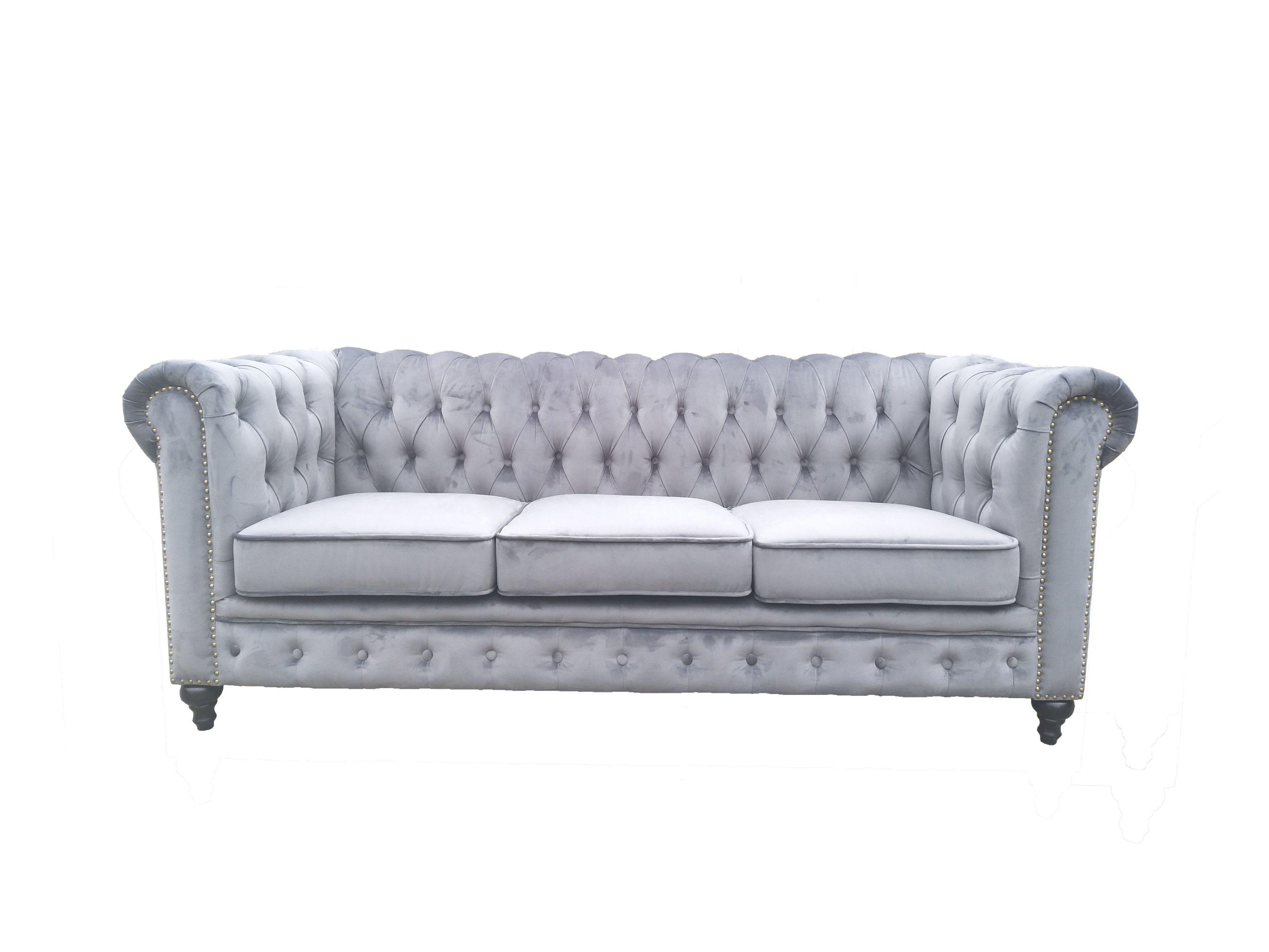 Superbe [Hot Item] Popular Modern Chesterfield Fabric Sofa Set For Living Room
