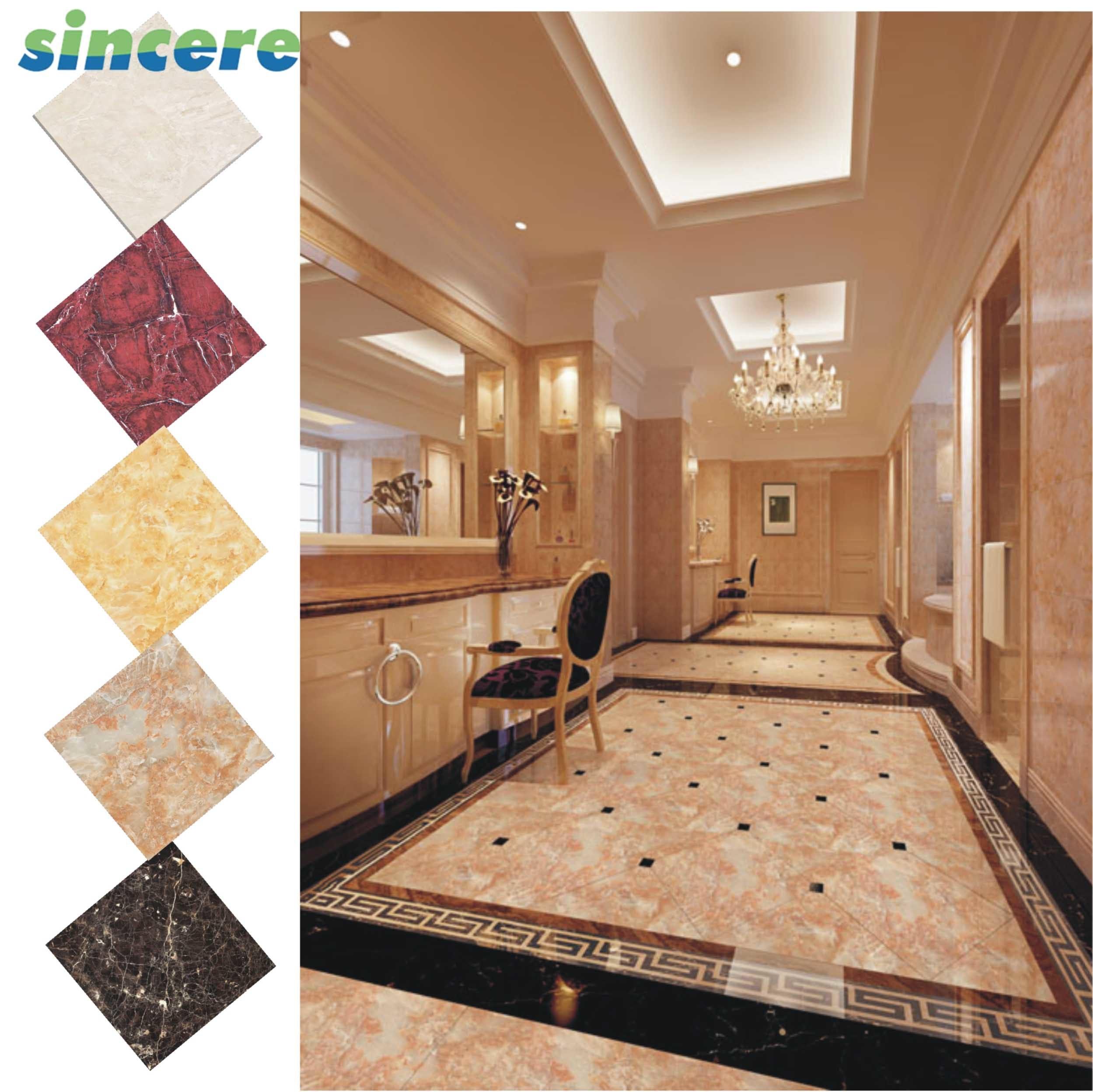 China 600x600 Household Bathroom Wall Modern Marble Pattern Tile Floor With Ciq China Tile Floor Pattern Tile Floor